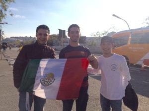 Aficionados mexicanos en el Camp Nou