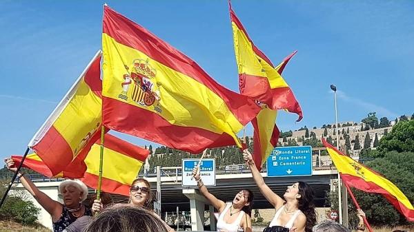 Manifestación a favor de la unión de España en Barcelona / Pilar Suárez